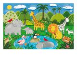 Spaß im Dschungel Giclée-Premiumdruck von Sophie Harding