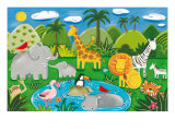 Jungle Fun Premium Giclee Print by Sophie Harding