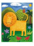 Léo le lion Reproduction giclée Premium par Sophie Harding