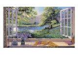 Wilde hyacinten Premium gicléedruk van Stephen Darbishire