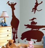 Animal Silhouettes-Brown Autocollant mural