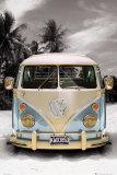 VW bus camper in Californië Poster