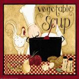 Kitchen Favorites: Vegetable Soup Affiches par Dan Dipaolo