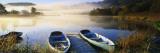 Rowboats at the Lakeside, English Lake District, Grasmere, Cumbria, England 写真プリント : パノラミック・イメージ(Panoramic Images)
