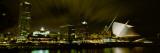 City Skyline with Milwaukee Art Museum at Night, Milwaukee, Wisconsin, USA Photographic Print