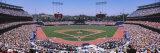 High Angle View of Spectators Watching a Baseball Match, Dodgers Vs. Yankees, Dodger Stadium Premium fotografisk trykk