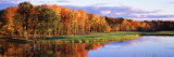 Fall Golf Course New England Fotoprint av Panoramic Images,
