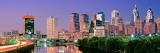 Us, Pennsylvania, Philadelphia Skyline, Night Fotografisk trykk av Panoramic Images,