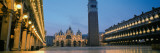 Cathedral Lit Up at Dusk, St. Mark's Cathedral, St. Mark's Square, Venice, Veneto, Italy Photographic Print by  Panoramic Images
