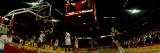 Basketball Match in Progress, Chicago Stadium, Chicago, Cook County, Illinois, USA Stampa fotografica