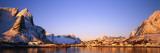 Mountains Along a Sea Side, Reine, Lofoten, Nordland County, Norway Photographic Print
