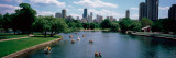 High Angle View of a Group of People on a Paddle Boat in a Lake, Lincoln Park, Chicago Photographic Print by  Panoramic Images