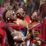 People of the Samburu Tribe Reproduction photographique