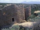 Anasazi Ancestral Puebloan Ruins at Howenweep National Monument, Utah Lámina fotográfica