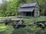 Log Cabin of John Oliver, Built in the 1820s, Great Smokey Mountains National Park, Tennessee Photographic Print