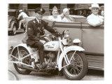 Cop on Motorcycle in Parade Julisteet