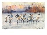 Vintage Ice Hockey, Telluride, Colorado Kunstdruck
