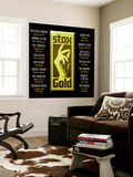 Stax Gold Wall Mural
