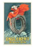 Flapper on Car Tire Kunstdrucke
