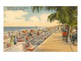 Boardwalk, Ft. Lauderdale, Florida Posters