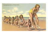 Ladies Playing Leap-Frog, Florida Posters