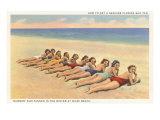 Bathing Beauties on Miami Beach, Florida Lámina