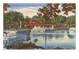 Glass Bottom Boats, Silver Springs, Florida Premium Giclee Print