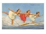 Water Skiers, Florida Prints