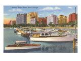 Belmont Yacht Harbor, Chicago, Illinois Poster