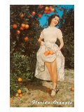 Lady with Oranges, Florida Posters