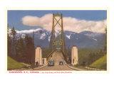 Lions Gate Bridge, Vancouver, British Columbia Poster