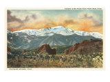 Sunset over Pike's Peak, Colorado Kunstdruck