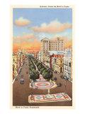 Marti or Prado Promenade, Havana, Cuba Poster