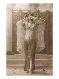 Belly Dancer Premium Giclee-trykk