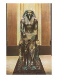 Pharaoh Statue in Cairo Museum, Egypt Poster