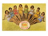 Vintage Bathing Beauties Florida Pósters