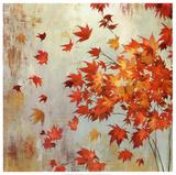 Crimson Foliage Plakater av Asia Jensen