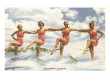 Water Skiers, Florida Poster