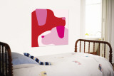 Pink Dogs Wall Mural