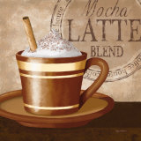 Mocha Latte Pósters por Kathy Middlebrook