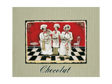 Three Chefs Print by Gregory Gorham