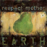 Respect Mother Earth Poster von Wani Pasion