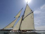 Mariquita under Sail, Solent Race, British Classic Yacht Club Regatta, Cowes Classic Week, 2008 Stampa fotografica di Rick Tomlinson