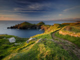 Footpath Along the Rumps, Pentire Point, Near Polzeath, Cornwall, UK 写真プリント : ロス・ホディノット