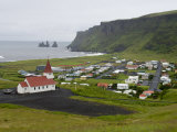 Town of Vik, South Coast of Iceland Photographic Print by Inaki Relanzon