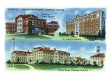 Amarillo, Tx - New Southwestern Hospital Center, Northwest Tx, St. Anthony, and Us Veterans, c.1940 Prints by  Lantern Press
