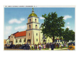 Keansburg, New Jersey - Exterior View of St. Ann's Catholic Church, c.1937 Posters af  Lantern Press