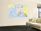1975 Close-up USA, Alaska Map Wall Mural by  National Geographic Maps