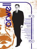 George Orwell Kunstdrucke von Christopher Rice