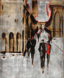 City Scene IV Posters van Elena Radzetska